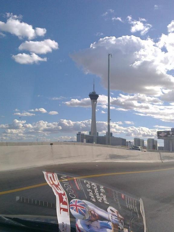 Přijíždíme do Vegas, po závodě zcela zničení a unavení ...