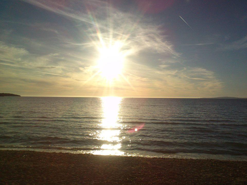 ...posezení na pláži...