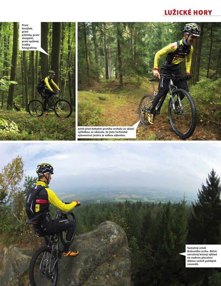 ... první lesejček, první pěšinky, první stoupání. Ještě před dobytím prvního vrcholu se skalní vyhlídkou se ukázalo, že jistá technická vybavenost jezdce je velkou výhodou ...