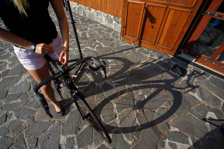 ... srovnat forbec, aby nám kolo nezatáčelo doleva :-) ...