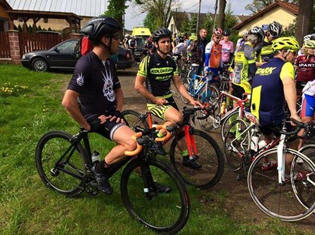 Trošku nervozity před startem :) ... — s uživateli Martin Bína a Specialized Bicycles.